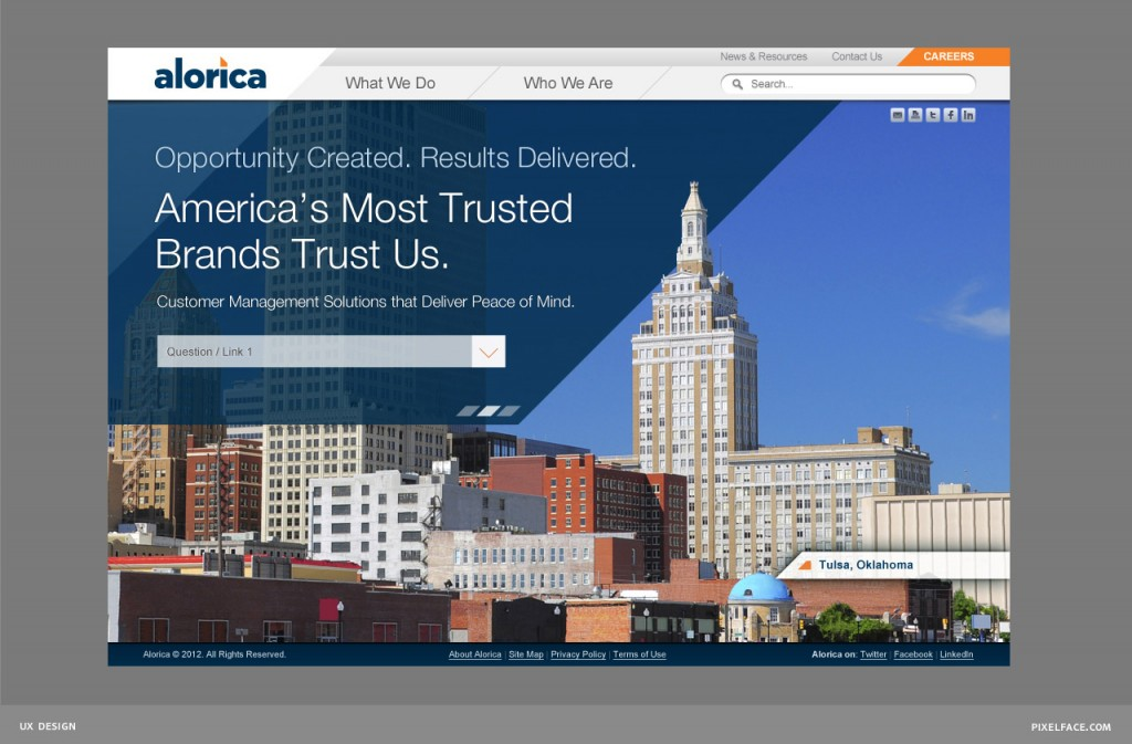Alorica - web design
