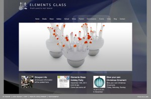 Elements Glass - web design