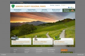 Sonoma Parks - user experience