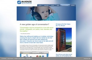 Mckenzie World Wide - web design