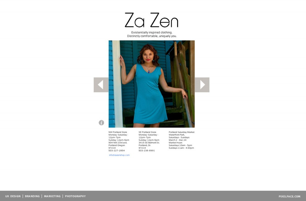 Za Zen - mobile web design